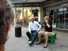 v.ln.r.: Gerhard Zickenheiner und Franziska Brantner in Weil am Rhein, Bild: privat