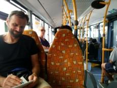Gemeinderat Stephan Berg auf Bustour mit der Ratsfraktion