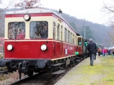 Historischer Dieseltriebwagen der Kandertalbahn