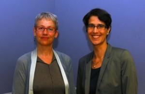 Die gesundheitspolitische Sprecherin der Grünen im Bundestag, Biggi Bender und die Lörracher Kandidatin Ina Rosenthal