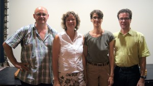 Das Wohl der Biene im Blick: Thomas Bayer, Heike Hauk, Ina Rosenthal und Harald Ebner (von links).