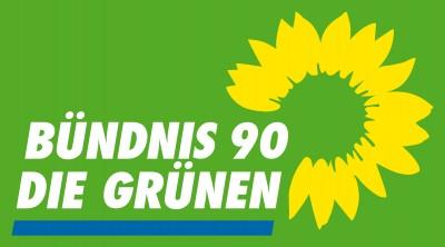 Logo GRÜNE auf Grün