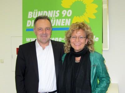 Josha Frey MdL und Beate Müller-Gemmeke MdB