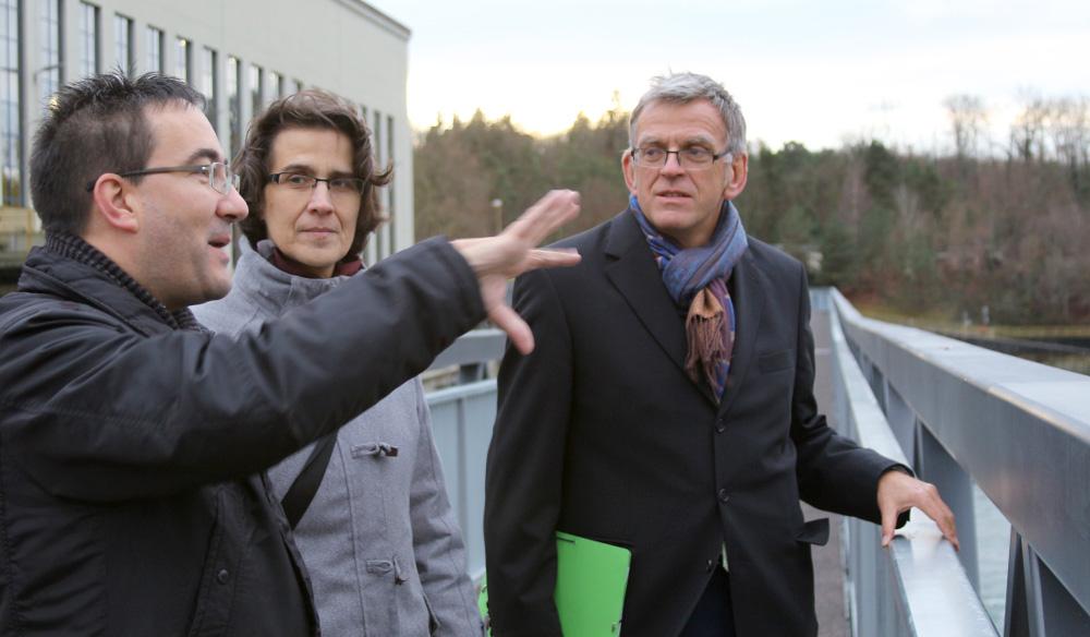 Ministerialdirektor Helmfried Meinel besucht das Wasserkraftwerk Ryburg/Schwörstadt