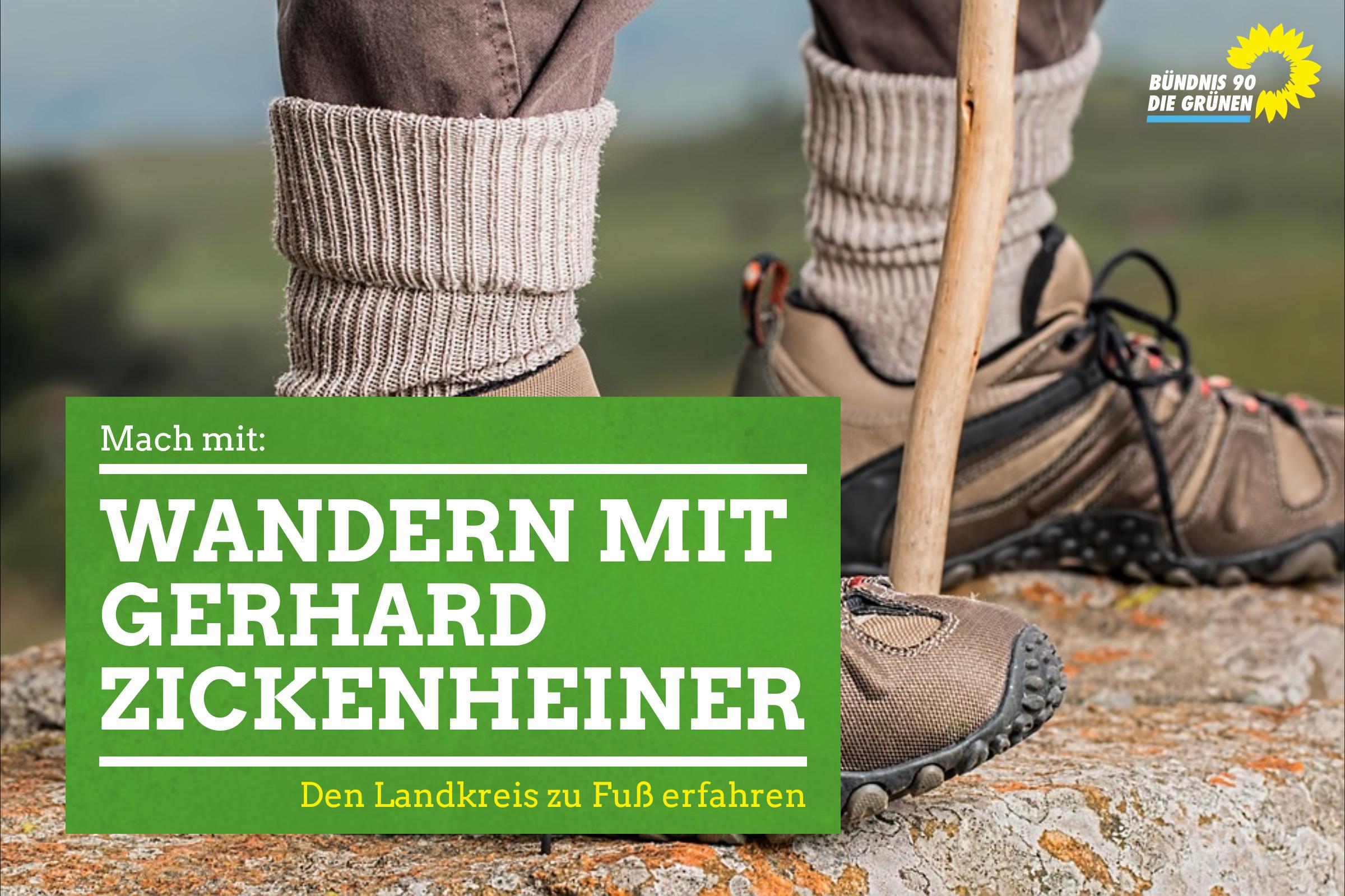 1. Wanderung mit unserem Bundestagskandidaten Gerhard Zickenheiner