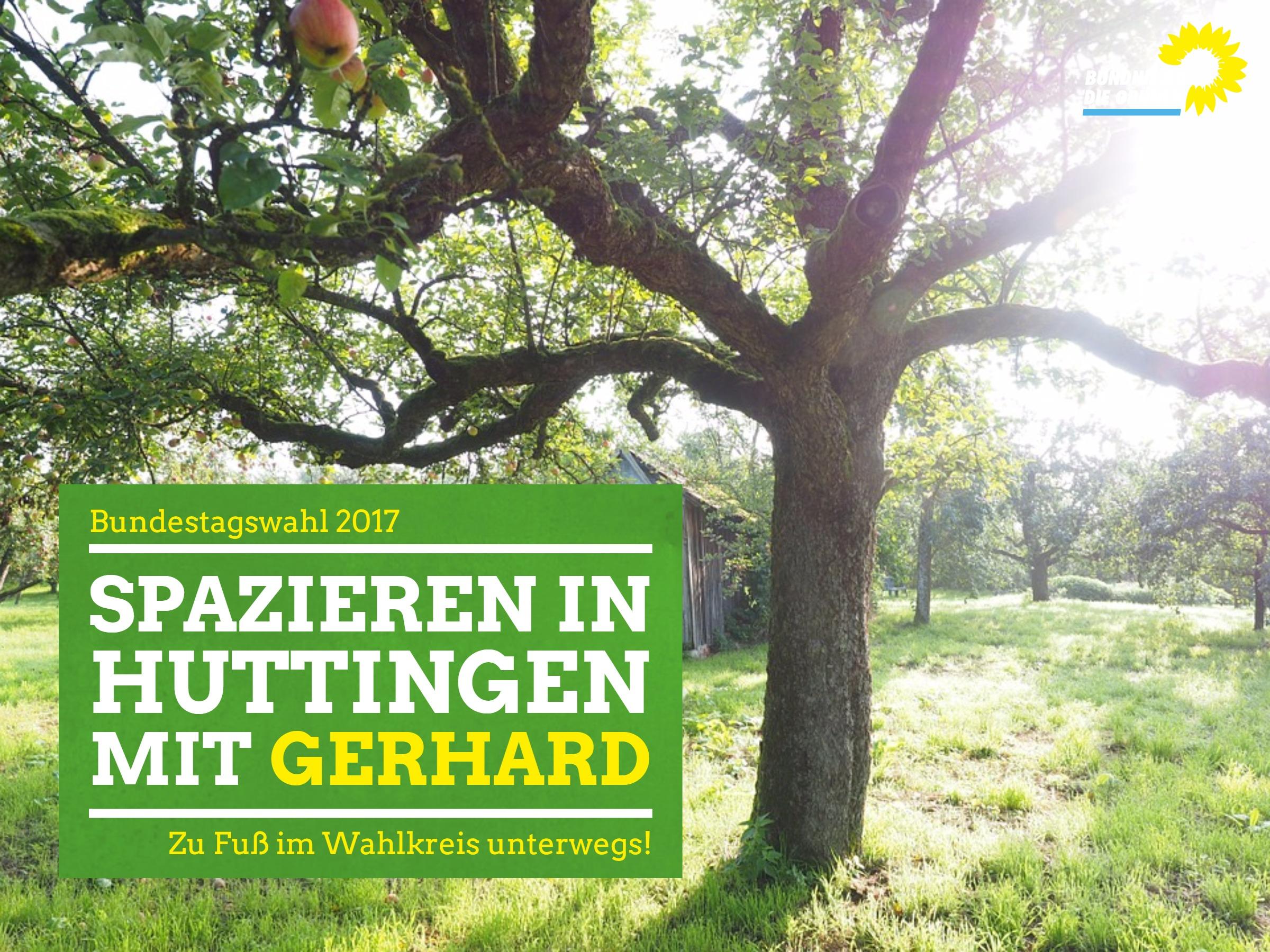 Wandern mit Gerhard Zickenheiner in Huttingen