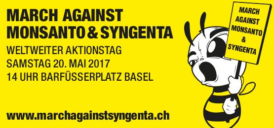 March against Monsanto und Syngenta – Gemeinsames Radeln nach Basel!