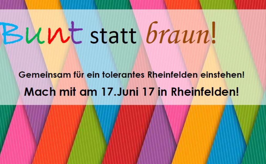 Bunt statt Braun! – Gemeinsam für ein tolerantes Rheinfelden einstehen!