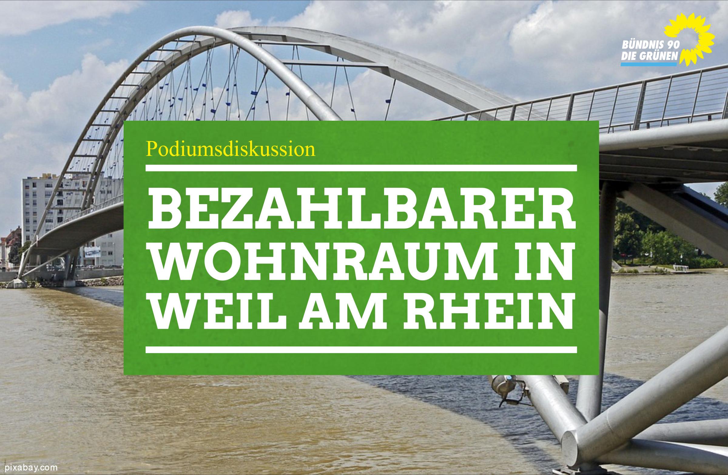 """Podiumsdiskussion """"Bezahlbarer Wohnraum in Weil am Rhein"""""""