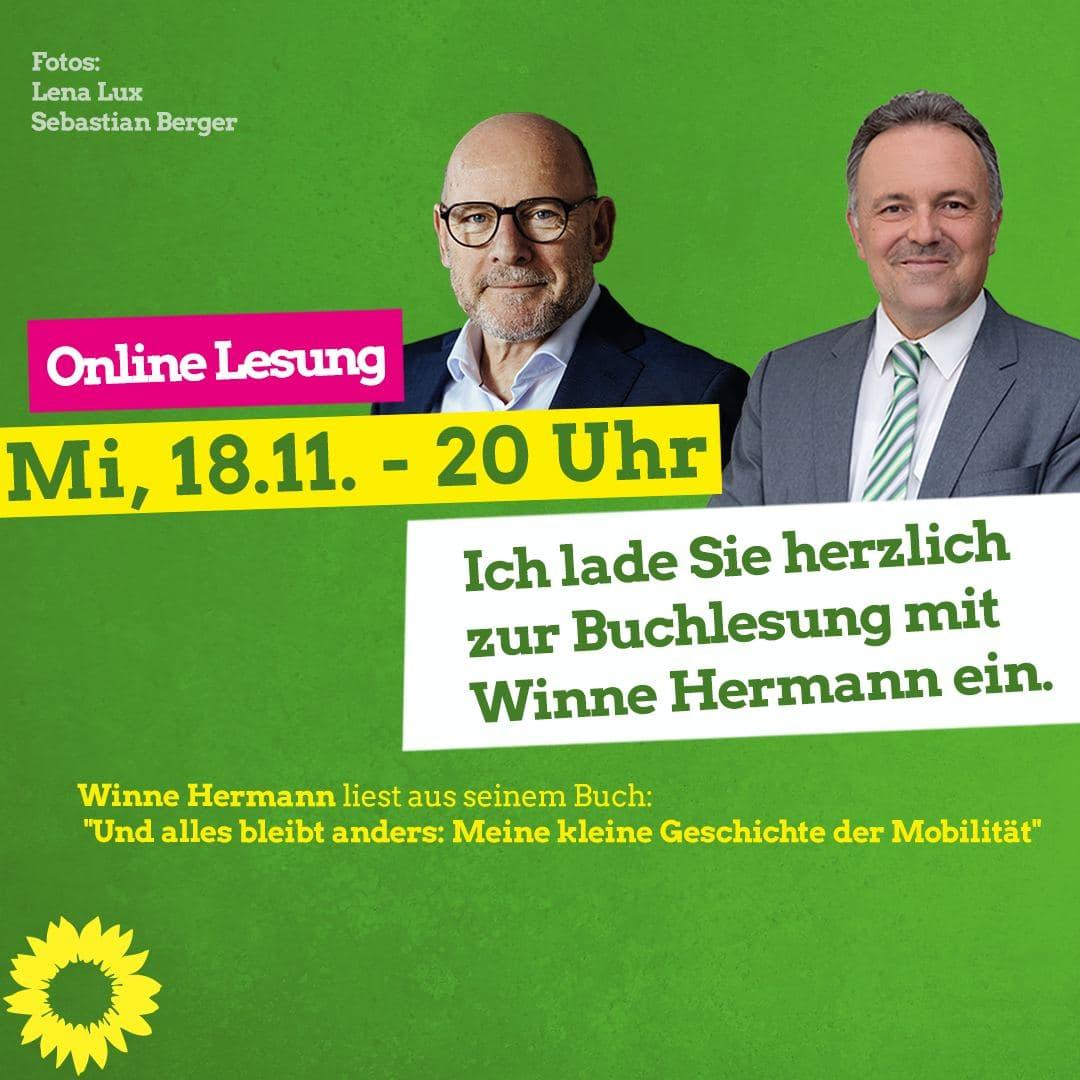 ONLINE-LESUNG mit Winne Hermann!