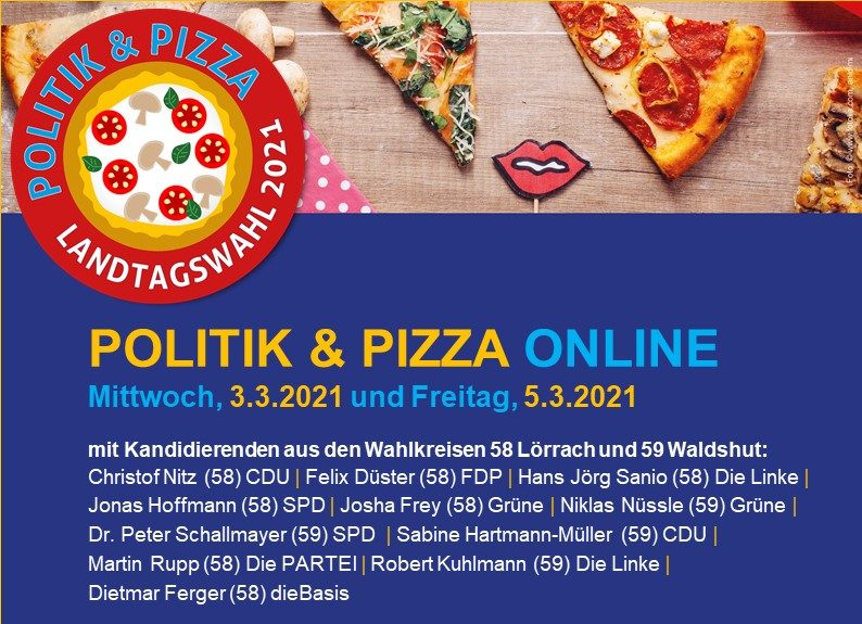 PIZZA & POLITIK ONLINE – mit Josha Frey